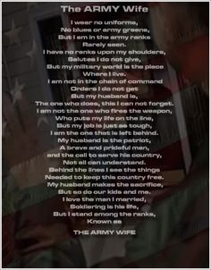 The Army Wife Creed Graphics, Pictures, & Images for Myspace Layouts