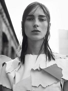 Alexandra Elizabeth, Ine Neefs and Julia Bergshoeff by Karim Sadli for Vogue Paris April 2015