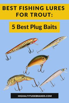 When you go fishing for trout and other species, it's very important to have a range of different lures to call on when the fish aren't biting. Sometimes, things like spinners and soft plastics will do the trick, but at other times, you will have to use spoons or plug baits. Trout Fishing Bait, Trout Bait, Best Fishing Lures, Trout Fishing Tips, Fishing Tools, Fishing Stuff, Going Fishing, Fishing Equipment, Best Trout Lures