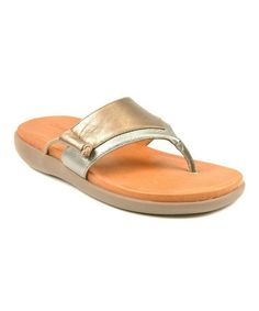 Love this Pewter Leather Got It Sandal by Gentle Souls on #zulily! #zulilyfinds