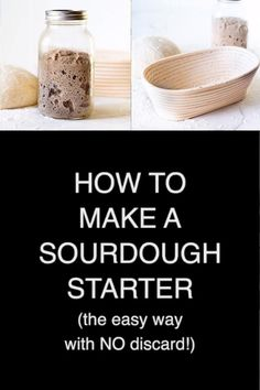 Learn how to make a sourdough starter the easy way without endless feeding & wasteful discard! Best Sourdough Starter Recipe, Artisan Sourdough Bread Recipe, Sourdough Recipes, Sour Dough Bread Starter Recipe, Artisan Bread Recipes, Yeast Bread, Healthy Bread Recipes, No Waste, Vegan Baking