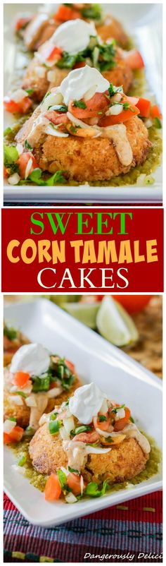 Thank you Crystal from Dangerously Delicious for sharing these Sweet Corn Tamale Cakes! These Sweet Corn Tamale Cakes taste EXACTLY like the infamous appetizer from Cheesecake Factory! This is a copyc