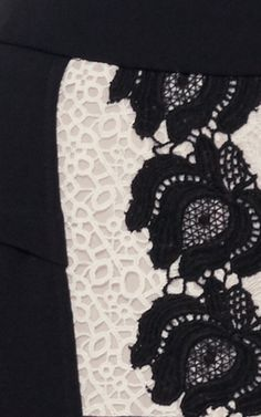 Black Lace Millais Skirt by ROLAND MOURET for Preorder on Moda Operandi