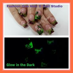 Halloween nails  #nailsbytammy #halloween  #glowinthedark