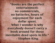 Stephen King quote about books.