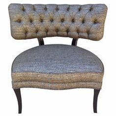 Billy Haines Style Tufted Slipper Chairs