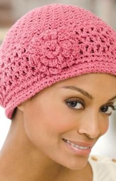 Chemo Cap, free crochet pattern by Kim Kotary on Red Heart Yarns