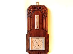 French Art Deco Wooden Hand Carved Wall by SouvenirsdeVoyages, $65.00
