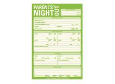 Knock Knock Parents' Night Out Pad %23knockknockstuff