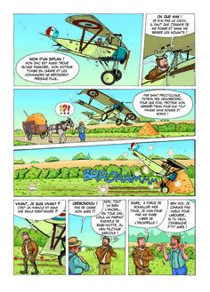 Planche extraite de BISHOT du tome 1 Aile et Gants. BD dessinée et scénarisée par David VOILEAUX,publiée aux Editions Révasion
