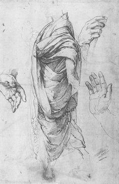 Drawing 5 | Preparatory Drawings | Parnassus | Raphael