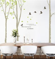 Árbol pared decakl Birch Tree Wall Decals venta de por Janniecut