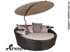Диван Stella темно-коричневый Garden4You Daybed, Outdoor Furniture, Outdoor Decor, Pools, Park, Home Decor, Ideas, Sleeper Sofa, Decoration Home