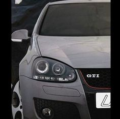 Vw golf mk5 04-09 #black halo #angel eye projector + led front #headlights lights,  View more on the LINK: 	http://www.zeppy.io/product/gb/2/361401445960/