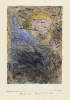 Paul Klee (1879-1940) - Angel, still groping (Engel, noch tastend*), 1939. Oil and aquarelle on paper on canvas