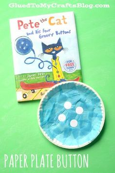 Paper Plate Button - Kid Craft Idea - Perfect for Pete the Cat and His Four Groovy Buttons book!