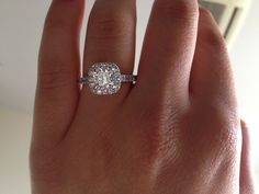 I couldn't resist pinning my own engagement ring - halo, cushion cut, 1.52ct centre diamond, perfection!!