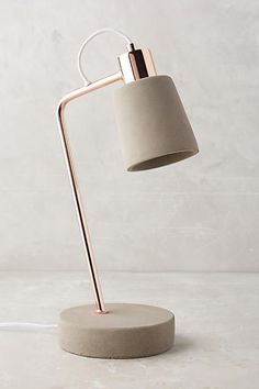 Anthropologie Fiona Task Lamp The Best of home decoration in – Home Decor Ideas – Interior design tips Bedroom Lamps, Bedroom Lighting, Blue Table Lamp, Design Tisch, Tall Lamps, Concrete Lamp, Desk Light, Unique Lamps, Decoration