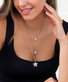 Another great find on #zulily! Silvertone Star Layer Pendant Necklace by Bijou Marvellous #zulilyfinds