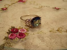 CLEARANCE Rainbow Topaz Silver Ring Sz9 by MsMuffinTiggywinkles, $6.90