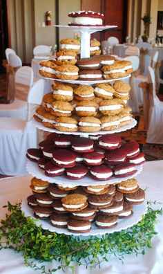 Whoopie Pie Wedding Cake Tower   Alternatives To A Traditional Wedding Cake  That Your Guests Will Love!