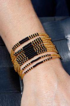 Malindi Black Mamba - Seed Beaded Bracelet | Urban Gypsy Designs