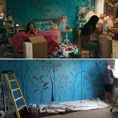 Before Lara Jean's bedroom became the source of everyone's envy, it was just a blank canvas for the film's design team. Movie Bedroom, Bedroom Wall, Kids Bedroom, Lara Jean, Hippie Bedroom Decor, Bedroom Inspo, Decoration Design, New Room, Blank Canvas