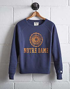 Tailgate Women's Notre Dame Irish Crew Sweatshirt, Blue | American Eagle Outfitters