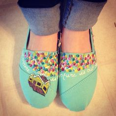 Custom Disney UP Shoes by CatsCustomShoes on Etsy, $40.00