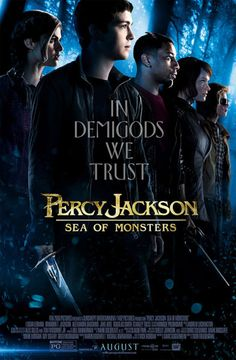 $25 Visa gift card to see the movie, The Sea of Monsters (Percy Jackson & the Olympians) paperback book · Percy Jackson: Sea of Monsters tote back and keychain