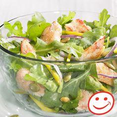Salade santé de crabe, roquette et julienne de mangue
