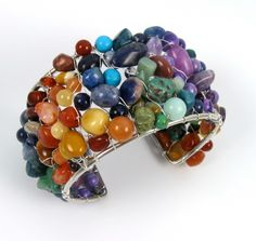 Rainbow Mixed Gemstone Beads and Chips by PaisleyLizardDesigns, $77.00