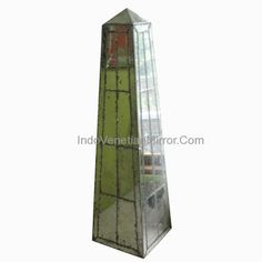 Antique mirror: Tower style  Specification : Item Code# : AM-001  Buy Antiques Glass with Tower style from direct Margo Glass. This Mirror is high quality with beautiful finished antique. Significant differences in old Mirror are a piece of glass in the frame. With a small section and complicated become the hallmark for this item.