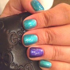 CND Shellac-Hotski to Tchotchke,Purple Purple & Zillionaire glitter
