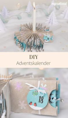 homemade advent calendar made from empty toilet paper rolls - Weihnachten basteln - All Things Christmas, Christmas Time, Christmas Crafts, Xmas, Holiday, Homemade Advent Calendars, Diy Advent Calendar, Homemade Calendar, Craft Gifts