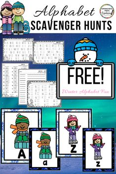 Kids can 'Write the Room' with this free alphabet scavenger hunt. Sort uppercase and lowercase letters. Hands-on learning fun! Snow Activities, Alphabet Activities, Teaching Activities, Fun Learning, Teaching Ideas, Creative Teaching, Teaching Tools, Preschool Centers, Kindergarten Activities