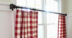 Savvy Southern Style: The Mister Made Easy No Sew Curtains No Sew Curtains, Rod Pocket Curtains, Cafe Curtains, Hanging Curtains, Kitchen Curtains, Diy Bathroom Remodel, Shower Remodel, Savvy Southern Style, Country Curtains
