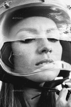 girl button up motorcycle helmet Open Face Motorcycle Helmets, Riding Helmets, Flatlay Styling, Biker Girl, Creative Photography, Button Up, Baseball Hats, Female, Café Racers