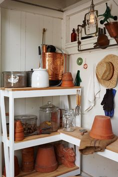 Art | Harrison Interiors  potting shed 3- close up, interior