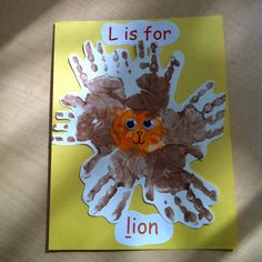 L is for lion handprint pic