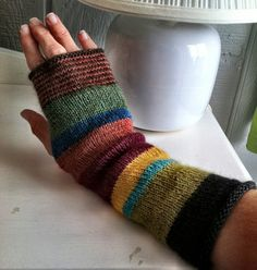Karen's Fingerless Mitt Kit from Woolworks Baltimore Crochet Quilt, Crochet Mittens, Crochet Gloves, Crochet Yarn, Knitting Yarn, Hand Knitting, Knitted Hats, Knitting Patterns, Crochet Arm Warmers