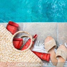 Απόκτησε ονειρεμένα καλοκαιρινά μαλλιά με την ολοκληρωμένη σειρά περιποίησης Kérastase Soleil! Θα προστατεύσει τα μαλλιά σου από την υπεριώδη ακτινοβολία χαρίζοντάς τους θρέψη και λάμψη κάτω από τον ήλιο. Straw Bag, Espadrilles, Sandals, Bags, Shoes, Fashion, Espadrilles Outfit, Handbags, Moda