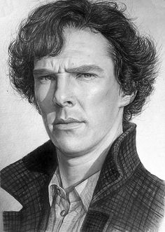 Sherlock / Benedict Cumberbatch with pencils by LazzzyV. the likeness is amazing. not just the face, but the character is visible also.