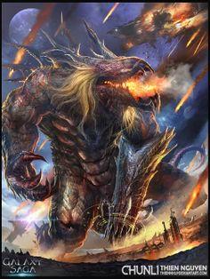 Artist: Thien Nguyen Huy aka thiennh2 - Title: Raging Pandemonium Creature Norm - Card: Unknown