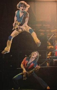 Van Halen in 1979 Be careful Eddie and not end up like Dave where he broke his nose.