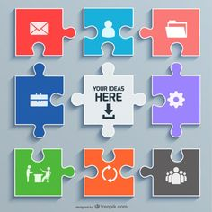 Download free puzzle pieces powerpoint template for presentations office puzzle concept template toneelgroepblik Image collections