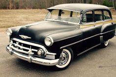 1953 Chevrolet 210 Deluxe Station Wagon. Rare Townsman wagon, 8-passenger, 4-door, 7-window, all steel body......neat...