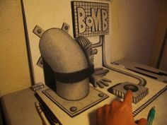 3D σχέδια με μολύβι του Nagai Hideyuki