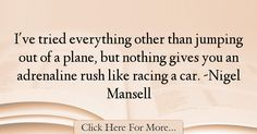 Nigel Mansell Quotes About Car - 8622