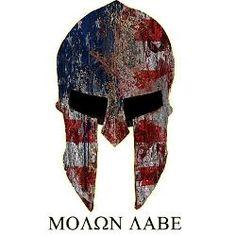 molon labe spartan helmet - Google Search